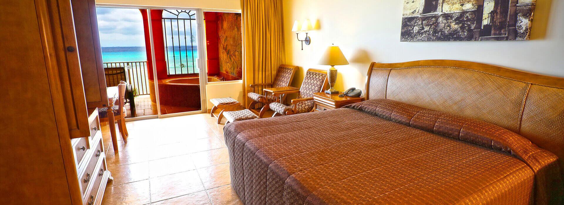 suite frente al mar con cama king size