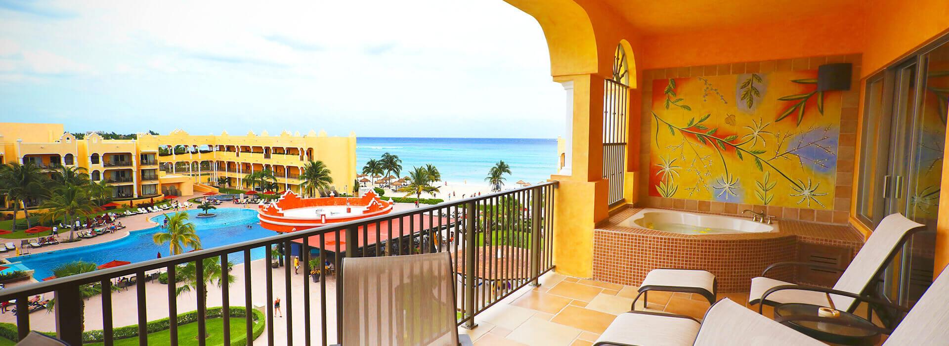 suite con terraza y vista al mar