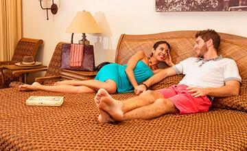 habitaciones familiares en hotel frente al mar