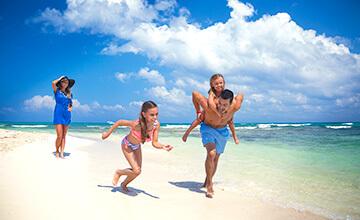 vacaciones familiares en playa de mexico