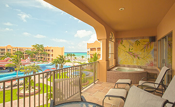 suite en the royal haciendas con vista al mar